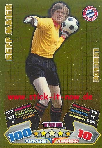 Match Attax 12/13 EXTRA - Sepp Maier - Bayern München - LEGENDE - Nr. 526