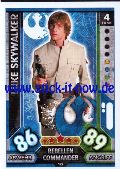 Topps Star Wars FORCE ATTAX UNIVERSE (2017) - Nr. 127