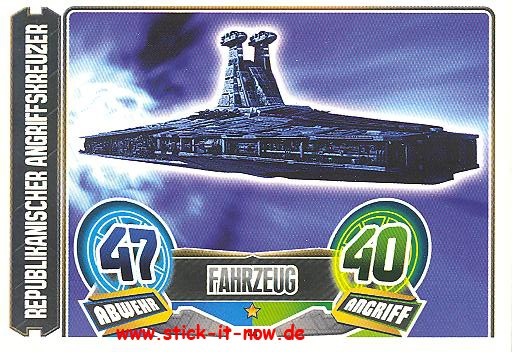 Force Attax - Star Wars - Clone Wars - Serie 5 - Republikanischer Angriffskreuzer - Nr. 44