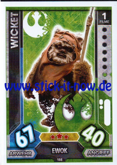 Topps Star Wars FORCE ATTAX UNIVERSE (2017) - Nr. 155