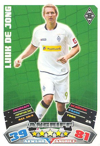 Match Attax 12/13 - Luuk de Jong - Bor. M'gladbach - Nr. 231
