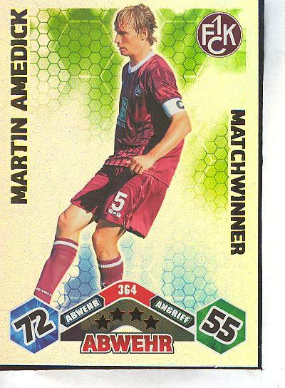 Match Attax 10//11-364-MARTIN AMEDICK-Matchwinner