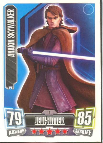Force Attax - Serie II - Anakin Skywalker - Jedi-Ritter