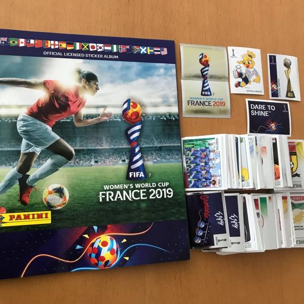 Panini Frauen WM 2019 Frankreich - komplettsatz ( alle 480 Sticker + Album )