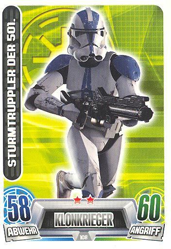 Force Attax Movie Collection - Serie 2 - STURMTRUPPLER DER 501. - Nr. 108