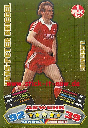Match Attax 12/13 EXTRA - Hans-Peter Briegel - 1. FC K'lautern - LEGENDE - Nr. 511