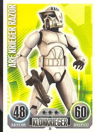Force Attax - ARF KRIEGER RAZOR - Klonkrieger - Die Republik - SERIE 1 (2010)