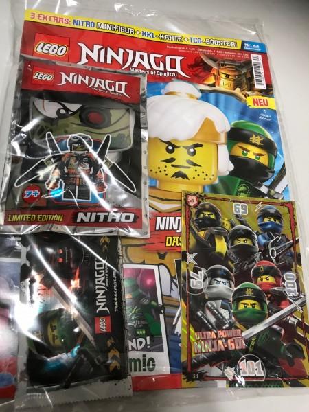 Lego Ninjago Magazin Nr. 44 (mit Lego Figur, Booster und XXL Karte)