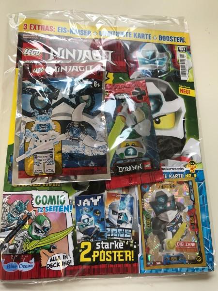 Lego Ninjago Magazin Nr. 61 (mit Lego Figur, Booster Ninjago 5 & LE 4)