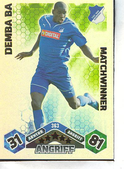 Match Attax 10//11-363-Demba Ba-Matchwinner