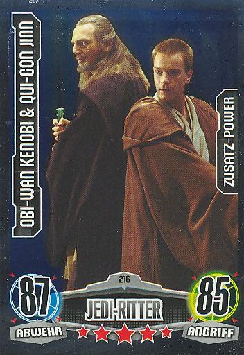 Force Attax - OBI-WAN KENOBI & QUI-GON JINN - Jedi-Ritter - ZUSATZ-POWER - Movie Collection