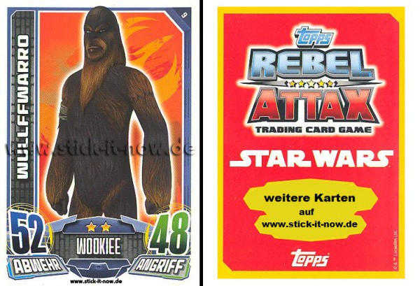 Rebel Attax - Serie 1 (2015) - WULLFFWARRO - Nr. 9