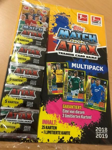 Topps Match Attax Bundesliga 18/19 - Multipack (25 Karten + 1 von 3 Limitierten Karten)