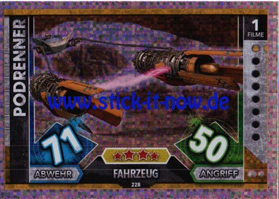 Topps Star Wars FORCE ATTAX UNIVERSE (2017) - Nr. 228 (Glitzer-Karte)