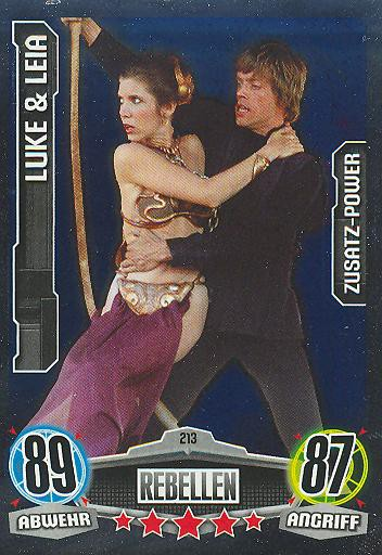 Force Attax - LUKE & LEIA - Rebellen - ZUSATZ-POWER - Movie Collection