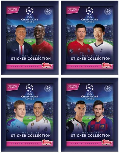 """Champions League 2019/2020 """"Sticker"""" - Stickertüte (5 Sticker)"""