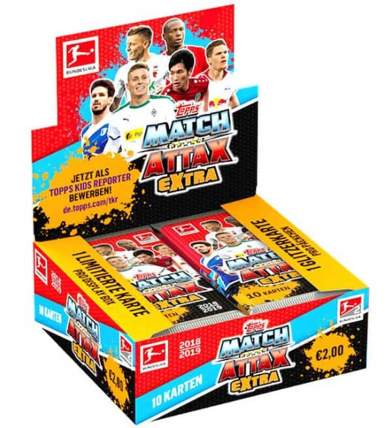 "Topps Match Attax Bundesliga 18/19 ""Extra"" - Display ( 20 Booster )"