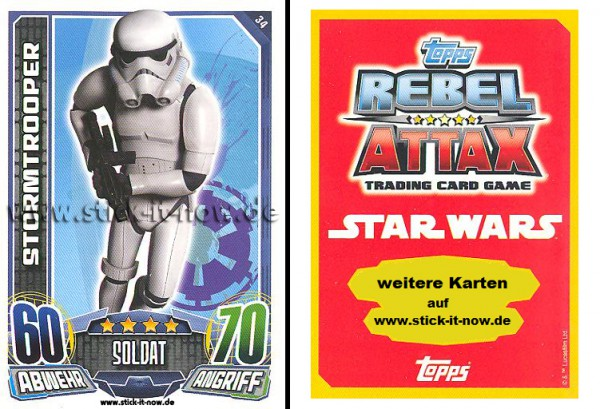 Rebel Attax - Serie 1 (2015) - STORMTROOPER - Nr. 34