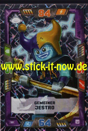 Lego Nexo Knights Trading Cards - Serie 2 (2017) - Nr. 50 (Glitzer)