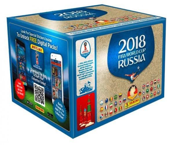 "Panini WM 2018 Russland ""Sticker"" - Display (100 Tüten)"