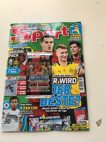 "Bravo Sport Nr. 11/2019 ( mit Booster Match Attax 19/20 ""LE17"" )"