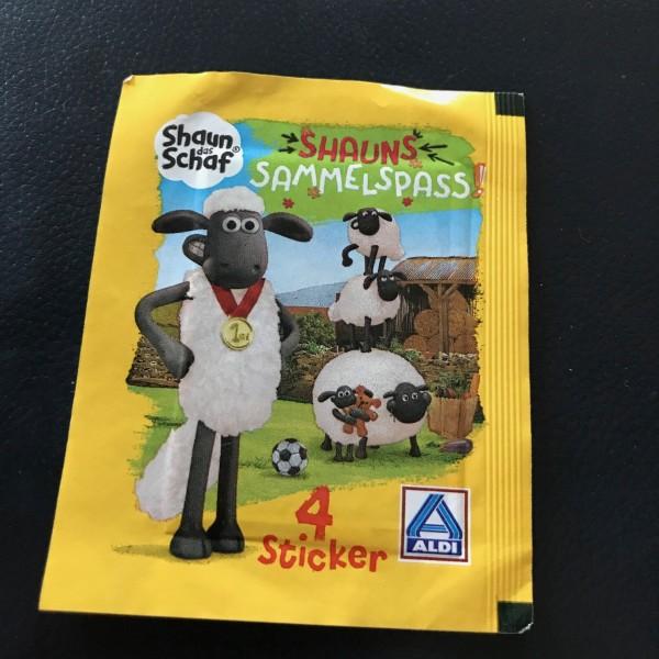 """Aldi Nord - Shaun das Schaf """"Sticker"""" - Stickertüte ( 4 Sticker )"""