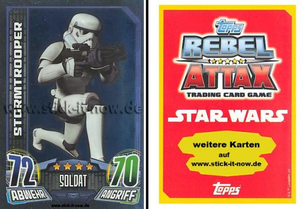 Rebel Attax - Serie 1 (2015) - STORMTROOPER - Nr. 151 ( Spiegelfolienkarte )