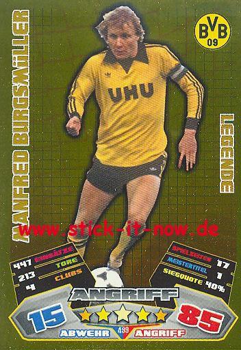 Match Attax 12/13 EXTRA - Manfred Burgsmüller - Bor. Dortmund - LEGENDE - Nr. 499