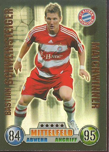 Bastian Schweinsteiger - Match Attax 08/09 - Matchwinner - Bayern München