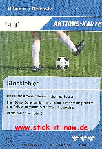 SocCards 05/06 - Aktions-Karte - Nr. 33/58