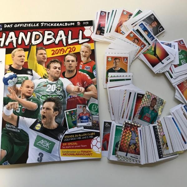 LIQUE MOLY Handball Bundesliga Sticker 19/20 - komplettsatz ( alle Sticker lose + Album )