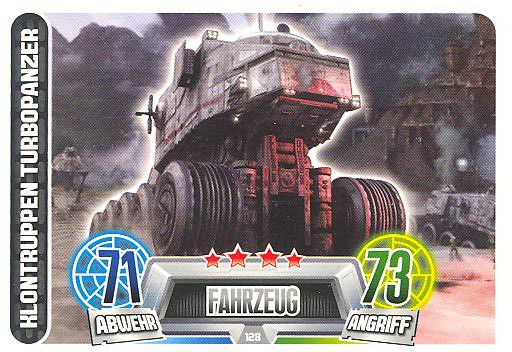 Force Attax Movie Collection - Serie 2 - KLONTRUPPEN TURBOPANZER - Nr. 128