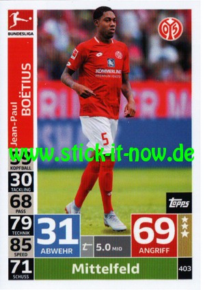 "Topps Match Attax Bundesliga 18/19 ""Action"" - Nr. 403"