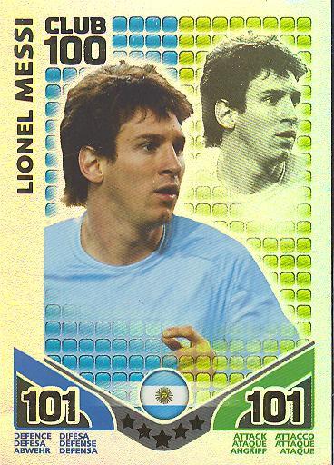 Match Attax WM 2010 - GER/Edition - Club 100 - LIONEL MESSI - Argentinien