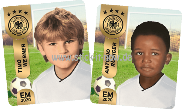 "Ferrero Team Sticker EM 2020 - ""Kids"" Nr. 3 (Werner/Rüdiger)"