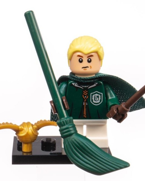 "Lego Minifiguren ""Harry Potter"" (2018) - Draco Malfoy im Quidditch-Umhang - Nr. 4"