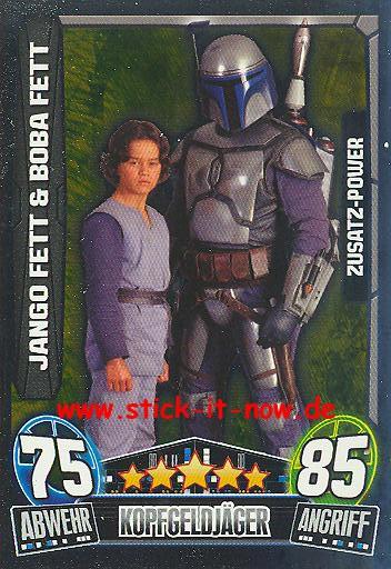 Force Attax Movie Collection - Serie 3 - Zusatz-Power - JANGO FETT & BOBA FETT - Nr. 204