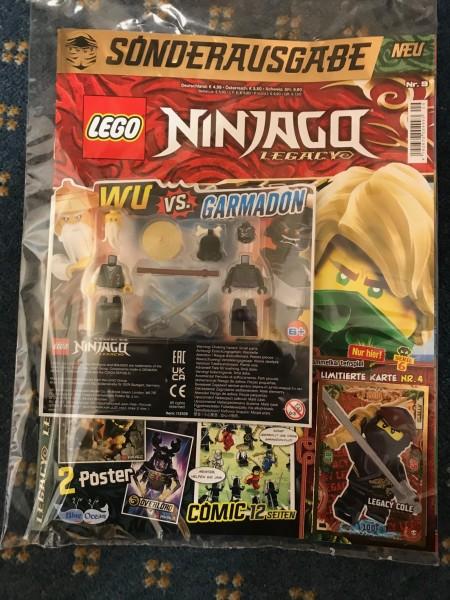 "Lego Ninjago Legacy Magazin Nr. 9 ( LE 4 ""Serie 6"" & 2 Lego Figuren )"