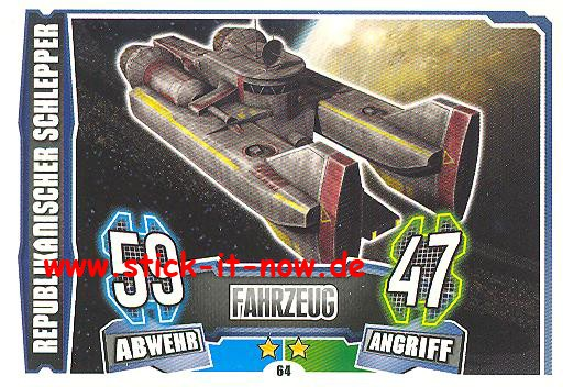 Force Attax - Star Wars - Clone Wars - Serie 4 - REPUBLIKANISCHER SCHLEPPER - Nr. 64