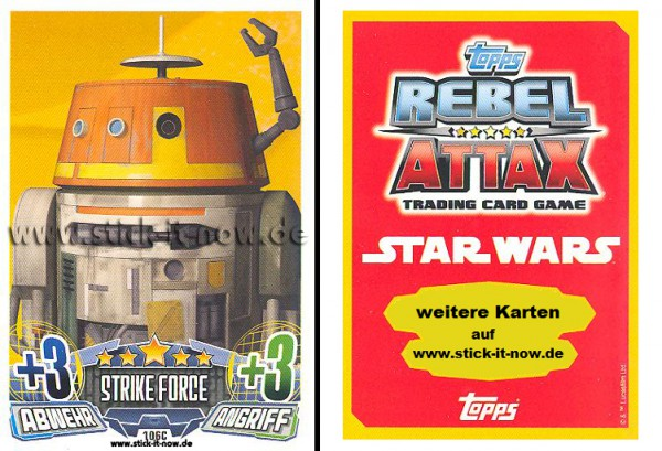 Rebel Attax - Serie 1 (2015) - STRIKE-FORCE - REBELLION 2 - Nr. 106C