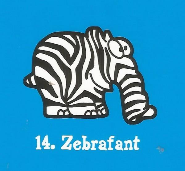 Edeka Ottifanten (2020) - Nr. 14 Zebrafant