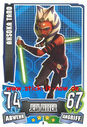 Force Attax - Star Wars - Clone Wars - Serie 4 - AHSOKA TANO - Nr. 3