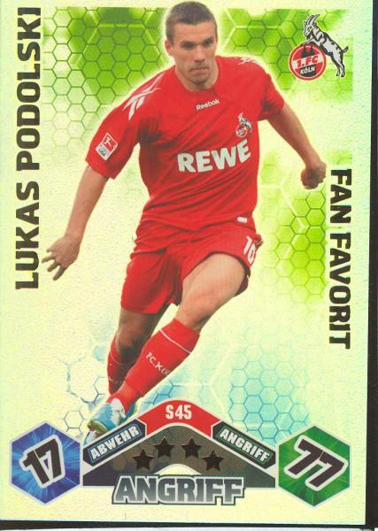 Lukas Podolski - Match Attax 10/11 Spezial - Fan Favorit