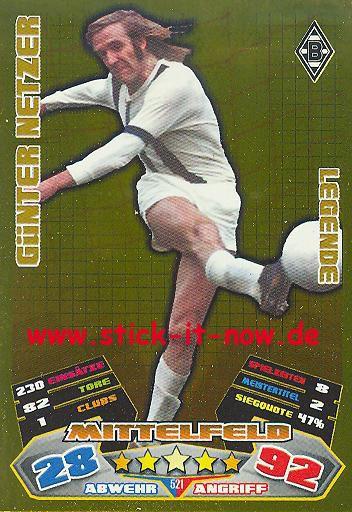 Match Attax 12/13 EXTRA - Günter Netzer - Bor. M'gladbach - LEGENDE - Nr. 521