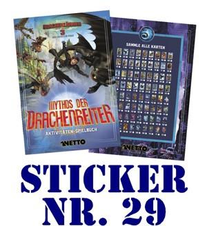 """Netto - Mythos der Drachenreiter (2019) """"Sticker"""" - Nr. 29"""