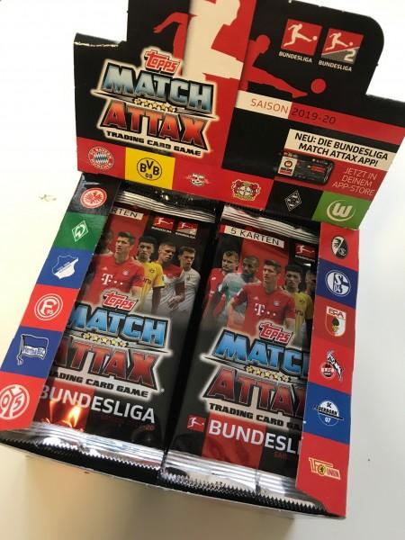 Topps Match Attax Bundesliga 2019/20 - Display ( 50 Booster á 5 Karten )