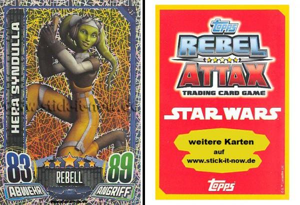 Rebel Attax - Serie 1 (2015) - HERA SYNDULLA - Nr. 157 ( Glitzer-Karte )