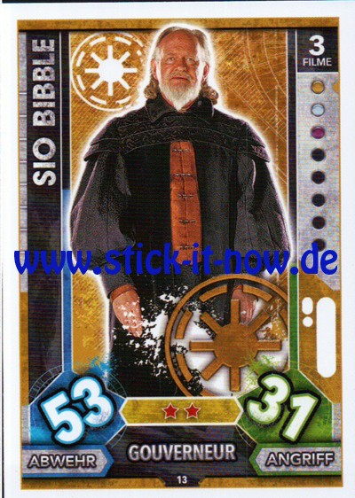 Topps Star Wars FORCE ATTAX UNIVERSE (2017) - Nr. 13