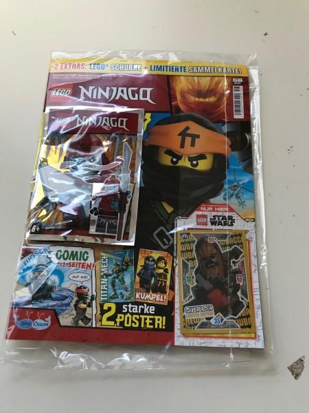 Lego Ninjago Magazin Nr. 56 (mit Lego Figur und Lego Star Wars LE 7)