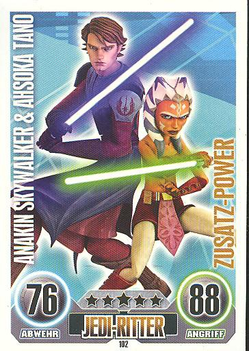 Force Attax - ANAKIN SKYWALKER & AHSOKA TANO - Zusatz-Power - SERIE 1 (2010)